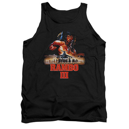 Rambo III French Poster Black Tank Top
