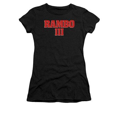 Rambo III Logo Black Juniors T-Shirt