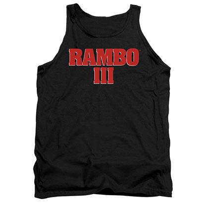Rambo III Logo Black Tank Top