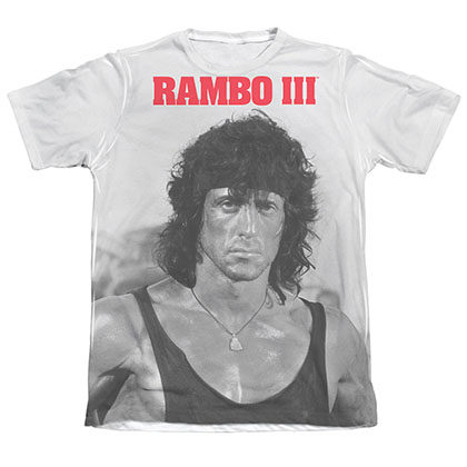 Rambo III Stare Sublimation T-Shirt