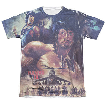 Rambo First No Mercy Sublimation T-Shirt