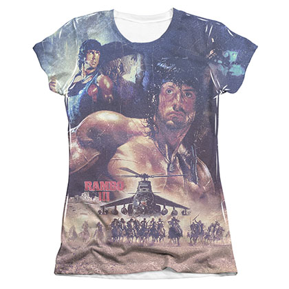 Rambo No Mercy Sublimation Juniors T-Shirt