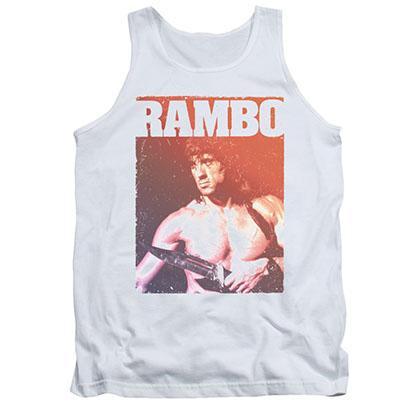 Rambo III Creep White Tank Top
