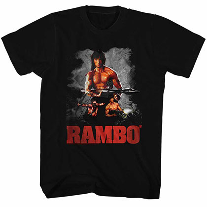 Rambo 3 Way Black TShirt