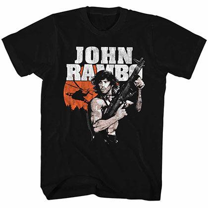 Rambo John Rambo Black TShirt
