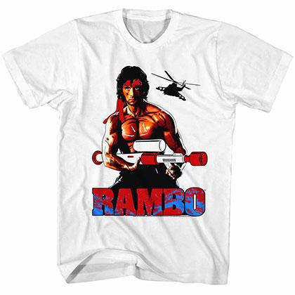 Rambo White White Tee Shirt