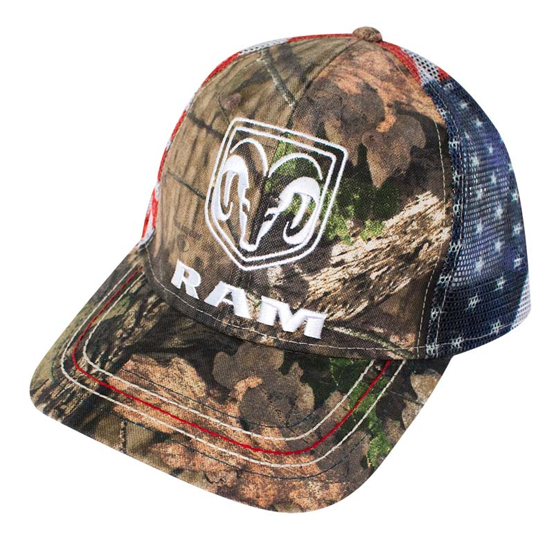 Dodge Ram American Flag Mesh Camo Hat