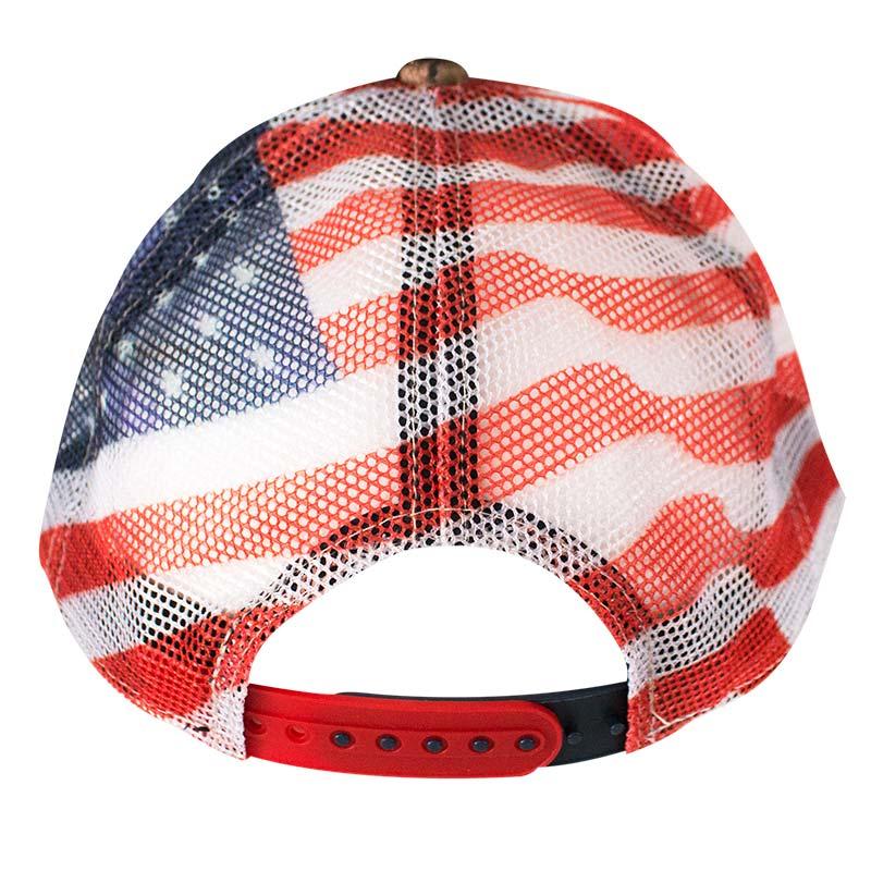 Dodge Ram Adjustable American Flag Mesh Camo Trucker Hat