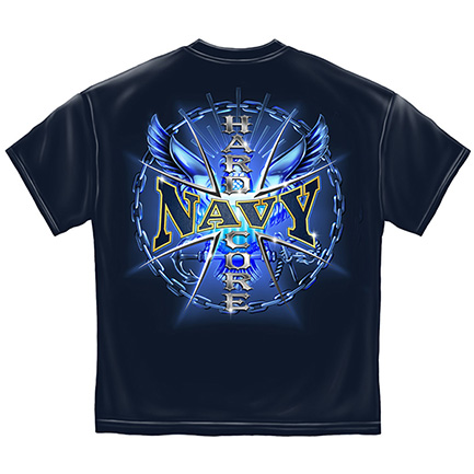 United States Navy Blue Hardcore Tee Shirt