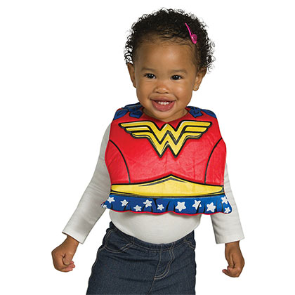 Wonder Woman Red Infant Bib