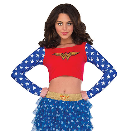 Wonder Woman Superhero Ladies Crop Top