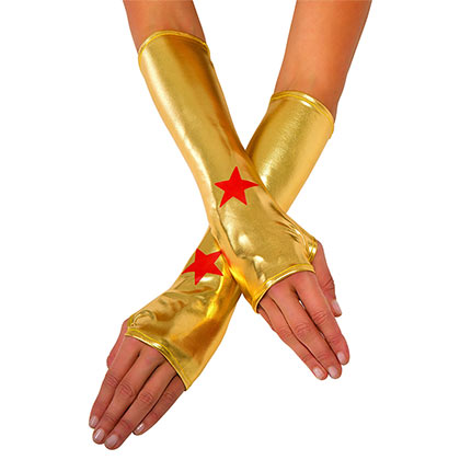 Wonder Woman Superhero Costume Adult Wrist Gauntlets