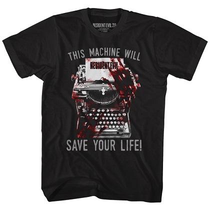 Resident Evil Typewriter Tshirt
