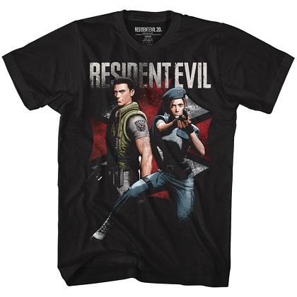 Resident Evil Chris and Jill Tshirt