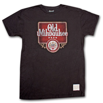 Old Milwaukee Beer Vintage Men's Black Shirt