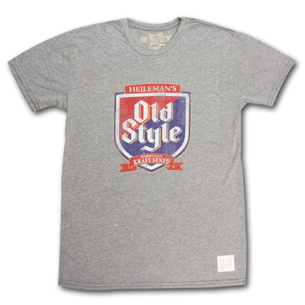 Old Style Beer Vintage Men's Grey Shirt