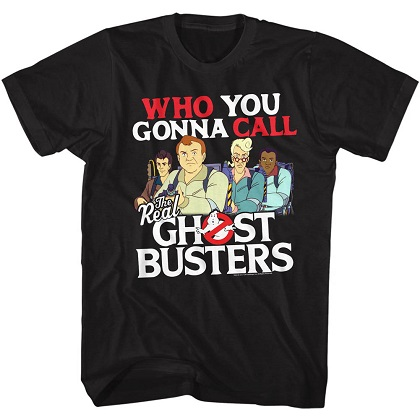 Ghostbusters Who You Gonna Call Cartoon Tshirt
