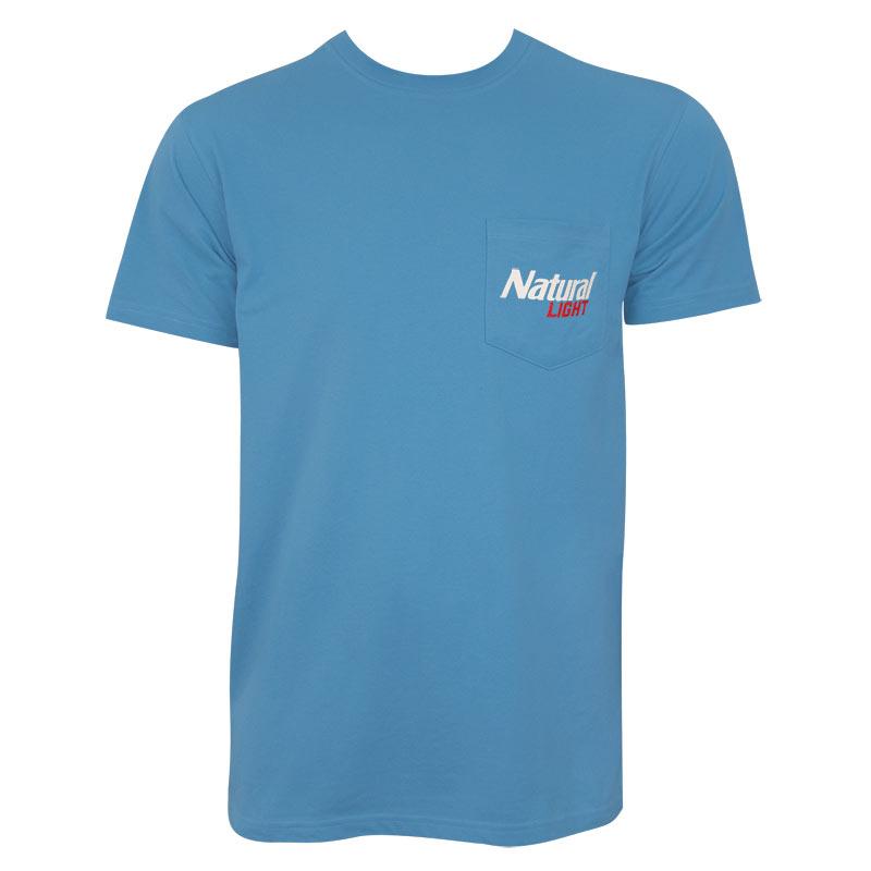 Natural Light Men's Blue Natural History Rowdy Gentleman T-Shirt