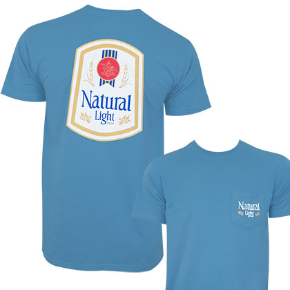 Natural Light Men's Blue Vintage T-Shirt