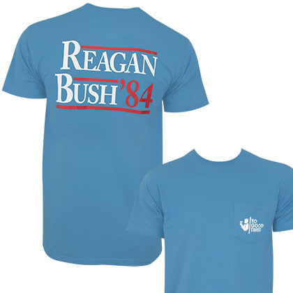 Reagan Bush '84 Men's Blue Patriotic Rowdy Gentleman T-Shirt