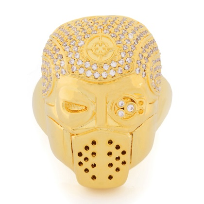 Suicide Squad 14k Gold Deadshot Ring