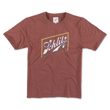 Schlitz Beer Men's Red Logo Tee Shirt