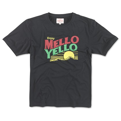 Mellow Yellow Men's Black Logo Tee Shirt