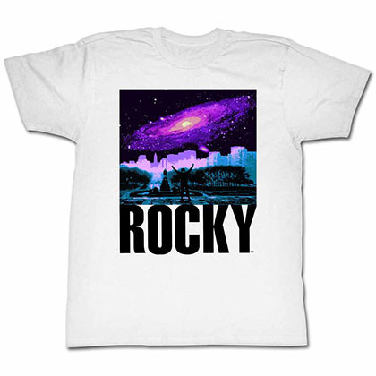 Rocky Galaxy White Tee Shirt