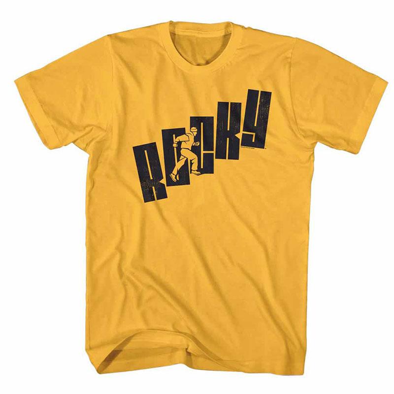 Rocky Name Steps Yellow TShirt