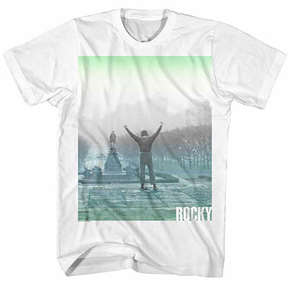 Rocky Fade White Tee Shirt