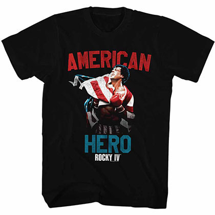 Rocky Hero Black Tee Shirt