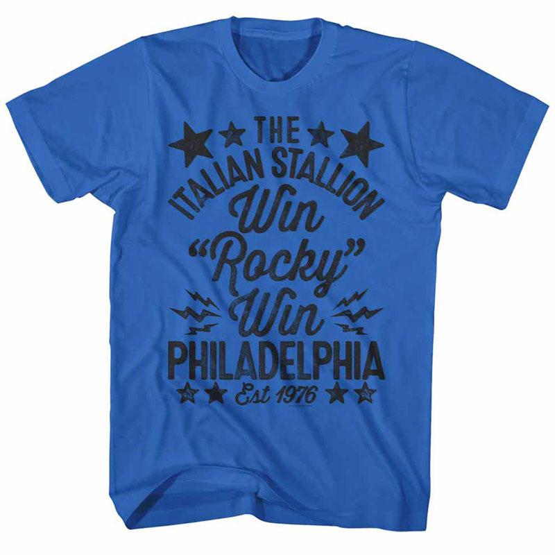 Rocky Win Handmade Blue TShirt