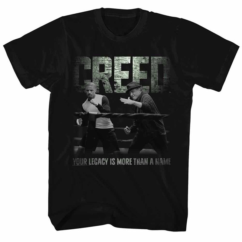 Rocky Embrace The Legacy  Black TShirt