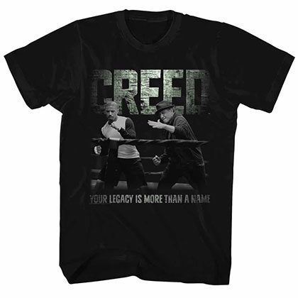 Rocky Embrace The Legacy  Black Tee Shirt
