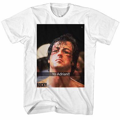 Rocky Yo Adrian Snap White Tee Shirt