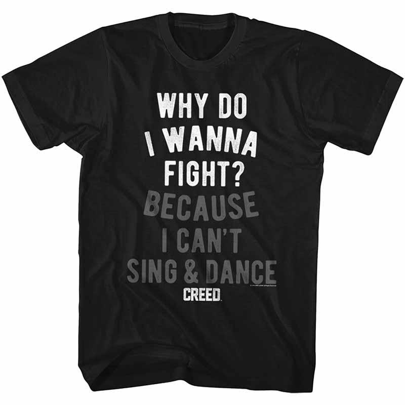 Rocky Wannafight Mens Black T-Shirt