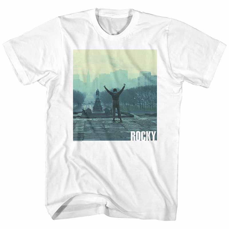 Rocky Live Mens White T-Shirt