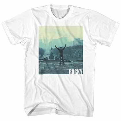 Rocky Live Mens White T-Shirt