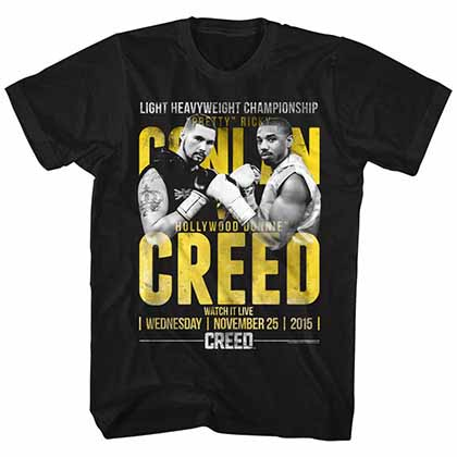 Rocky Conlan Vs Creed  Mens Black T-Shirt