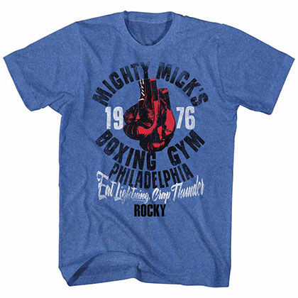 Rocky Mick's Gym Blue Tee Shirt