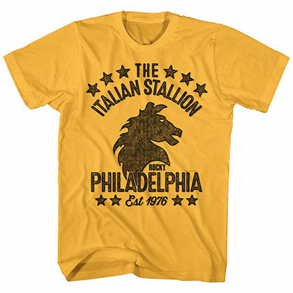 Rocky Stallionish Yellow Tee Shirt