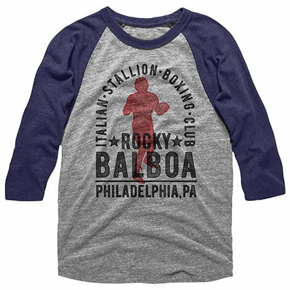 Rocky Balboa Boxing Club Blue Tee Shirt