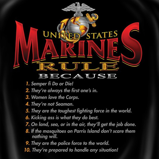 United States Marine Corps Rule Patriotic Tee Shirt