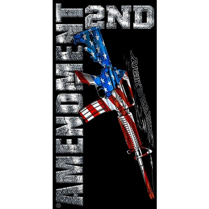 Patriotic 2nd Amendment Beach Towel