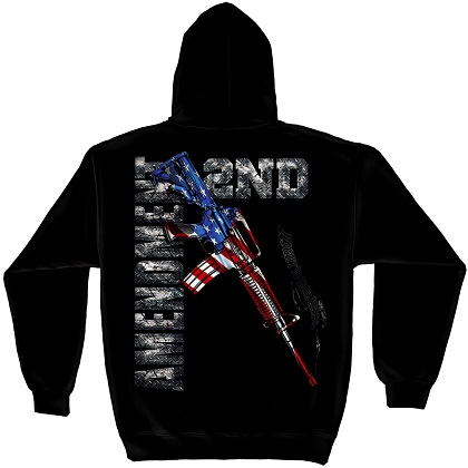 Patriotic 2nd Amendment Rifle Hoodie