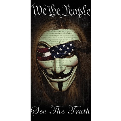 Patriotic We the People Beach Towel