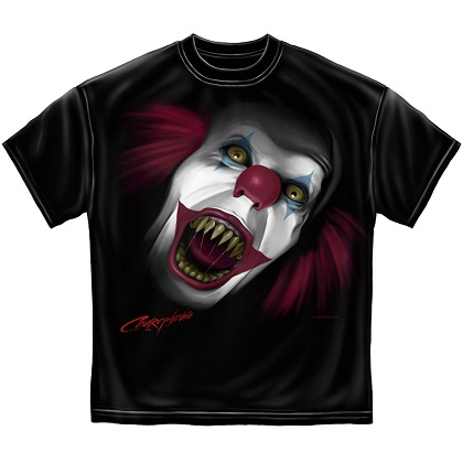 IT Evil Clown Screaming Tshirt