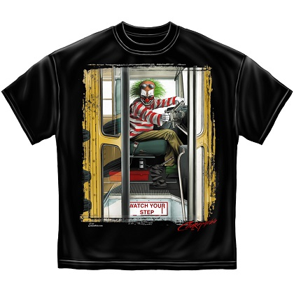 IT Evil Clown Bus Driver Tshirt