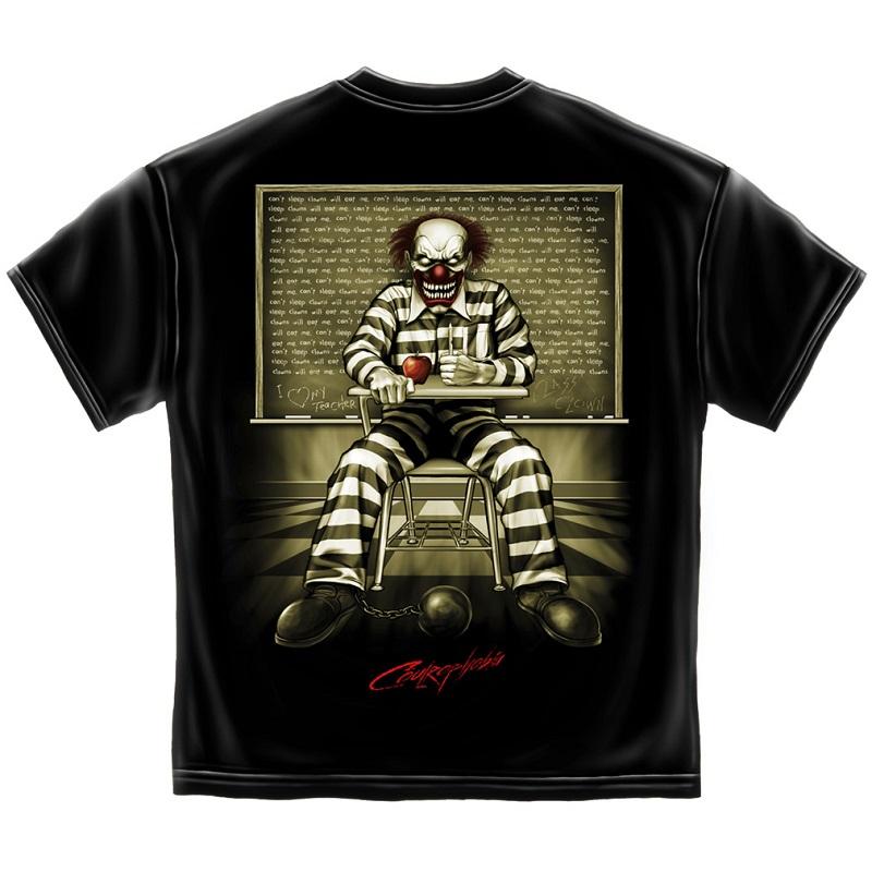 IT Evil Clown In Class Tshirt