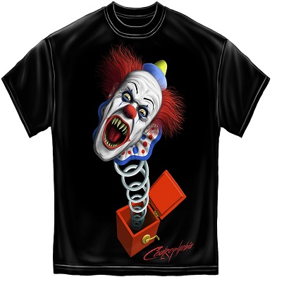 IT Jack In The Box Evil Clown Tshirt